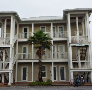 View of the condo from the road (Unit 3 is on the bottom right, first floor)