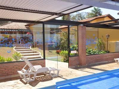Photo for House with heated pool and retractable roof for accommodation in Brotas.