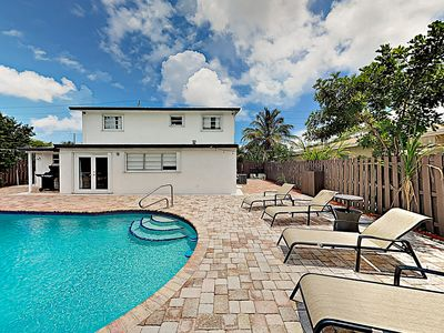 Photo for New Listing! Sunny Retreat w/ Large Private Pool & Grill, Near Golf & Tennis