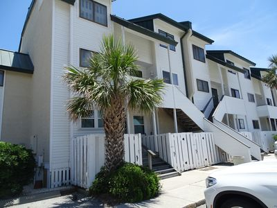 Tybee Lights - This unit is a 2nd floor unit.  You go up 2 flights of stairs from the parking lot.  Once inside the condo the bedrooms are on the 2nd floor.  There are no elevators in this complex.
