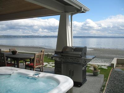 Olympic Hot Springs hot tub.  (now on opposite side of house for better views).