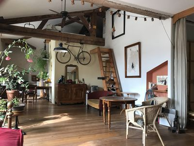 Photo for Nice and rustic loft in La Joliette, at the foot of the basket in the heart of marseille