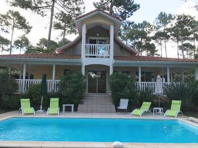 Photo for Lacanau Ocean Eden Park: Luxury villa with pool in 1st line of golf