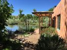 Garden view with the famous Santa Fe blue sky