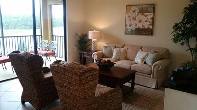 Photo for Amazing 2 Br, 2 Bath Condo With TPC Golf At Treviso Bay