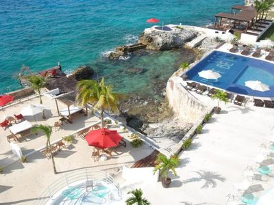 Photo for Couple's Getaway! Ocean View King Unit, Pool