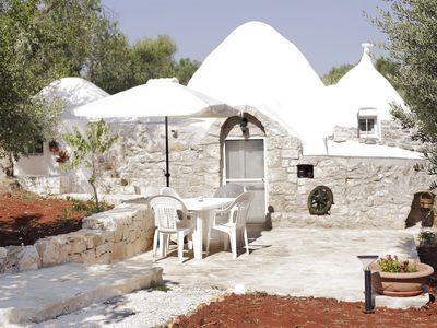 Photo for Terrantica: Trullo Moon with salt water pool & wifi & BBQ