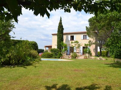 Photo for Countryhouse with swimminpool in big, sunny gdn. for  6-9 pers near Aix en Pce