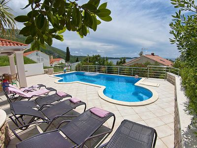 Photo for Luxurious Seaview Villa Pool Dubrovnik Plat for 22 people
