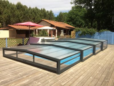 Photo for Near Soulac / sea chalet 8 pers, indoor pool, heated to 28 ° jacuzzi 5 pl