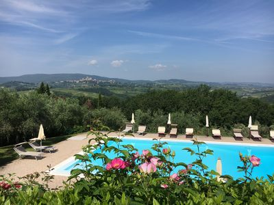 Photo for Apartment in Tuscany with a view of San Gimignano
