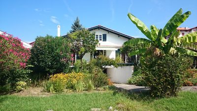 Photo for Hendaye Basque house 6 people, 1400m2 garden, beach and surf at 260m.