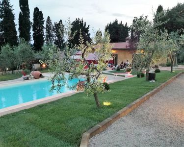 Photo for Stunning private villa with private pool, hot tub, WIFI, A/C, TV, patio, panoramic view and park...