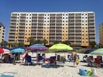 Photo for OCEAN FRONT, North Myrtle Beach, Shore Crest Villa 1, 2-Bedroom, 2-Bath, Kitchen