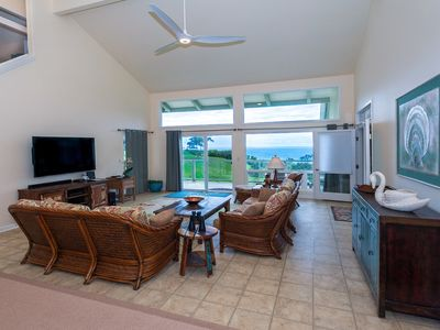 "Photo for Heavenly OCEAN VIEWs + A/C at ""Opening Flower"" JOYFUL Princeville Home & Setting"