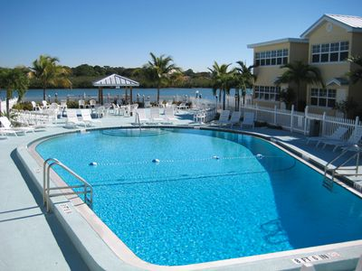 Quiet Resort includes a heated pool and sun deck! Relax and enjoy the sunsets!