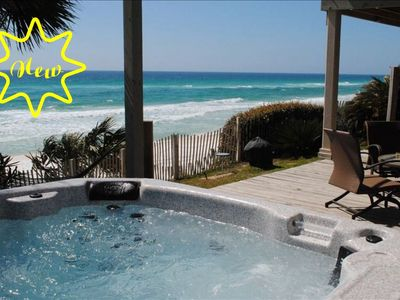 Photo for 5br Beach Gulf front Home with Hot Tub Spa sleeps 19