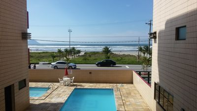 Photo for 1 bedroom apartment front of building to the sea. Boracéia Beach