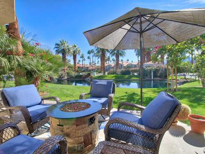 Photo for PGA West Desert Gem - Relax and enjoy views of lake, waterfall & mountains