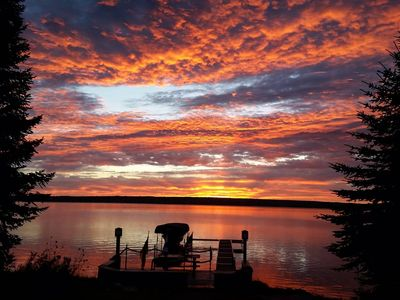 Picturesque cottage on Portage Lake w/ sauna & dock . No cleaning fee.!!