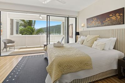 Luxurious Main Master suite, with the best marina harbour views to enjoy.