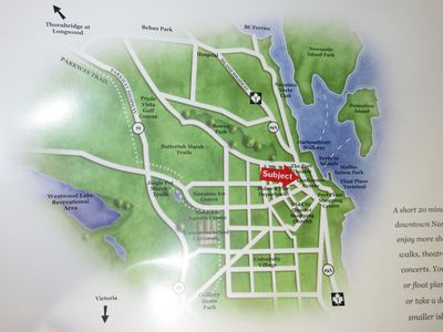 Location of Vacation Rental on Nanaimo Map