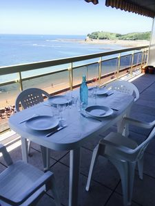 Photo for Luxury apartment, superb view on bay St Jean de Luz, panoramic terrace
