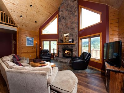 Photo for Log Cabin with Unbelievable Views - Ping Pong/Fire Pit - Heated Pool/Hot Tubs