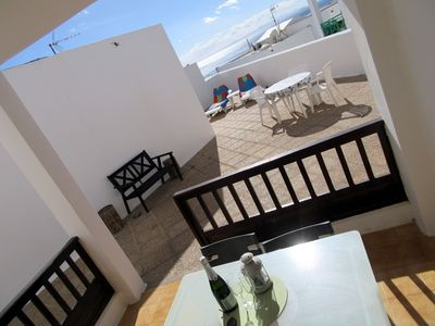 Photo for 2 bedroom apartment, large private terrace, sunloungers, sea views, free wifi
