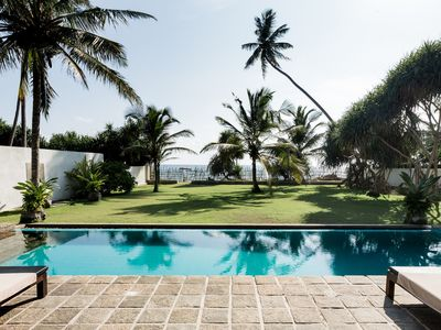 Photo for PRIVATE VILLA for 6 people with pool directly on the dream beach of Ambalangoda