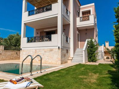 Photo for This 2-bedroom villa for up to 4 guests is located in Adele and has a private swimming pool, air-con