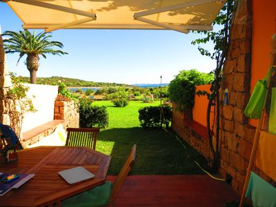 Photo for Trilocale, sea view garden, 200m from Salina Bamba and 800m from Cala Brandinchi