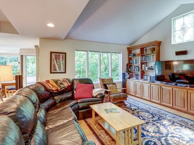 Photo for NEW LISTING! Spacious home w/large deck & two private hot tubs - near the slopes