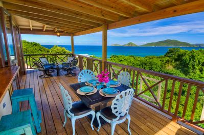 Dine or relax on the patio, whilst enjoying the beautiful ocean views