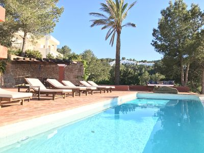 Photo for 7 bedrooms, 7 bathrooms, infinity private pool - best views of Ibiza, Can Avy