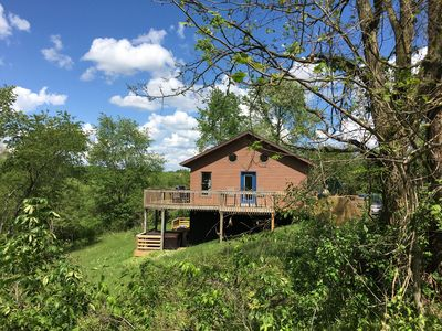 Photo for NEW! Hocking Hills Chubby Frog Cabin  w/Game Room,  Hot Tub and Private Hiking!
