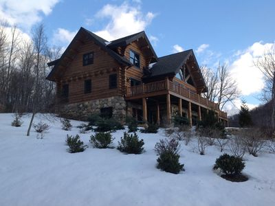 Photo for Luxury Log Home In Blue Ridge