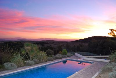 Beautiful view over the pool some years ago