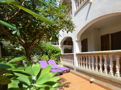 Photo for Beautiful ground floor apartment in Cala Ratjada with 2 bedrooms, 1 bathroom
