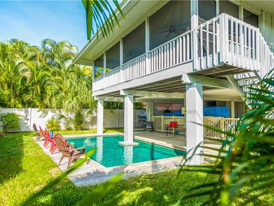 Photo for 2-3 Minute Walk to the Gulf Beaches - Private Heated Pool