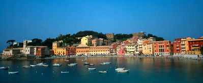 Photo for Ligurian Riviera - between Portofino and Five Lands nice flat private GARAGE air conditioning terraces WiFi