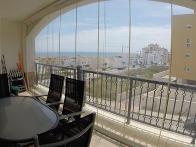 Photo for Apartment with pool 10 mins walk from beach