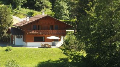 Photo for Chalet with exceptional views and ski from the door