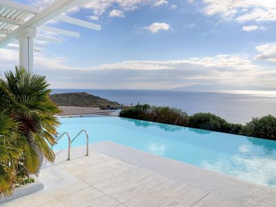 Photo for Amazing Villa Anzo Mykonos with Private Bay 5 Bedrooms 5 Bathrooms Up to 10 Guests Situated in the south in the area of Aleomandra next to the Sea