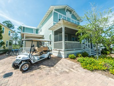 Photo for 6 Seater Golf Cart! Very Close to Seaside, 2,500+ SQ FT ~Your Sandtuary at NatureWalk 30A