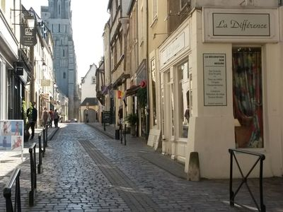 Photo for Modern Apartment in Bayeux Normandy in the Town Center