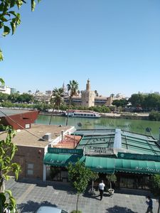 Photo for Best views of Seville, Torre del Oro, Giralda, Rio Guadalquivir, Maestranza