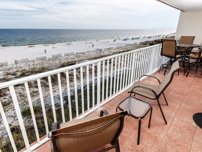 "Photo for ""The Palms 304"" Gulf Front Condo,,, Beach Service Included,,, Watch the dolphins swim by!!"
