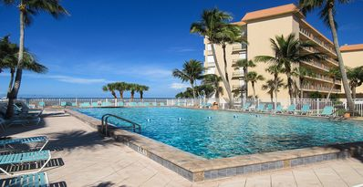 Photo for Island Getaway Right On The Beach!  Leonardo Arms 514 2B/2B Vacation Condo w/ Balcony Views of Gulf and Resort Pool