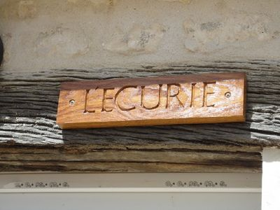 Our name plate was hand carved locally